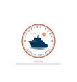 vintage retro tanker vessel cargo ship badge vector image