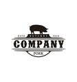 vintage retro western pork pig boar farm vector image vector image