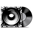 vinyl record with cover mockup typography vector image vector image