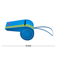 Yellow Stripe on Blue Whistle of Aruba vector image vector image