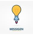 Bulb logo with idea concept vector image