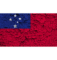 Flag of Samoa with old texture vector image