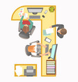 office manager secretary reception work place vector image