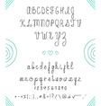 Set capital English handwriting font Font handmade vector image