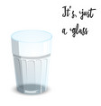 empty drinking glass cup isolated on white vector image