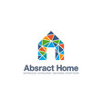 abstract business company logo smart home vector image vector image