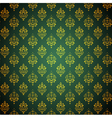 Abstract green and golden background vector image vector image