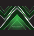 abstract silver black arrow speed direction on vector image