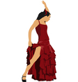al 0303 flamenco dancer vector image vector image