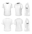 All six views mens white short sleeve t-shirt vector image vector image