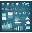 aquamarine colour infographic elements vector image vector image
