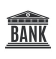 bank concept icon isolated on white background vector image vector image
