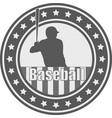 baseball emblem - vector image vector image