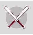 baseball sport bats vector image vector image