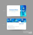 blue business card membership card vip club card vector image vector image
