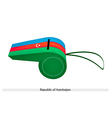 Blue Red and Green Whistle of Azerbaijan vector image vector image