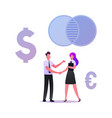businesspeople meeting partnership concept vector image