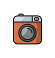camera icon photo line icon minimalistic vector image vector image