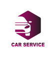 car service logo template design eps vector image