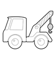Car towing truck icon isometric 3d style vector image vector image