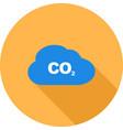 carbon dioxide gas vector image vector image