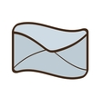 cartoon email online inbox communication vector image