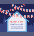celebration independence day america at home vector image vector image