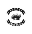 chef hat bakery logo designs inspiration isolated vector image vector image
