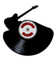 chicago blues music silhouette record vector image vector image