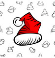 christmas hat pattern vector image vector image
