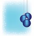 christmass balls hanging vector image
