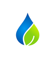 clean water and leaf nature logo vector image vector image