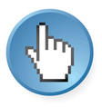 computer hand icon vector image vector image