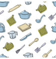 Cook tools color seamless pattern vector image