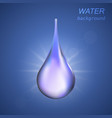 cosmetic background with water drop vector image vector image