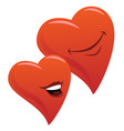 cute smiling romantic hearts couple cartoon vector image vector image