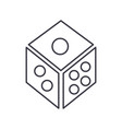 dicegame cube line icon sign vector image
