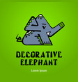 elephant decorative - emblem design logo vector image vector image