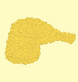 fried chicken vector image vector image