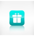 Gift box icon Application button vector image vector image