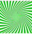 green and white spiral design background vector image vector image