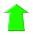 green up arrow vector image