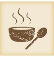 Grungy hot soup icon vector image vector image