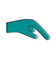 hand pointing with index finger sideview icon vector image vector image
