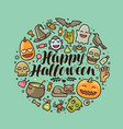 happy halloween greeting card or banner holiday vector image vector image