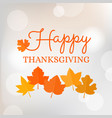 happy thanksgiving typographic headline vector image