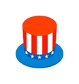 Hat in the USA flag colors isometric 3d icon vector image vector image