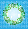 holiday winter frame vector image vector image