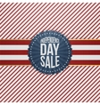 Independence Day Sale modern graphic Emblem vector image vector image