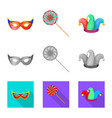 isolated object of party and birthday icon set of vector image vector image